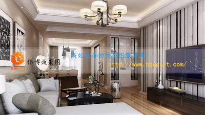 家装效果图现代风格客厅