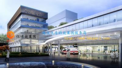建筑效果图人视医院