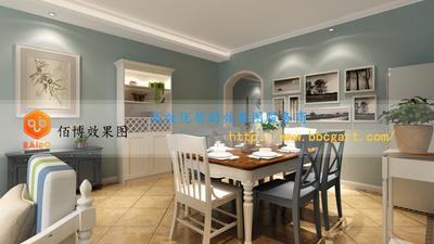 家装效果图田园风格餐厅